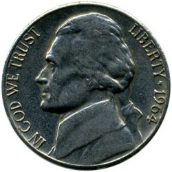 Coin > 5 cents, 1964 - USA  - obverse