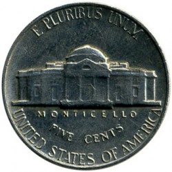 Coin > 5 cents, 1964 - USA  - reverse