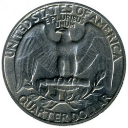 Coin > 25 cents (quarter), 1966 - USA  - reverse