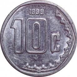 Moneta > 10centavos, 1999 - Messico  - reverse