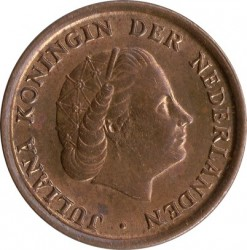 Coin > 1 cent, 1950-1980 - Netherlands  - obverse