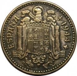 Monedă > 1pesetă, 1944 - Spania  - obverse