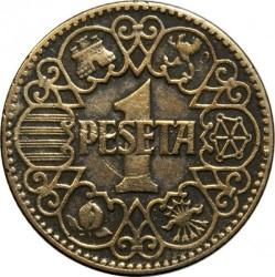 Monedă > 1pesetă, 1944 - Spania  - reverse