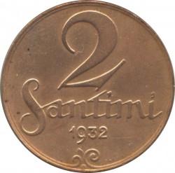 מטבע > 2סנטים, 1922-1932 - לטביה  - reverse