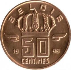 Pièce > 50centimes, 1998 - Belgique  (Legend in Dutch - 'BELGIE') - obverse
