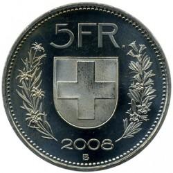 Moneta > 5franków, 2008 - Szwajcaria  - reverse