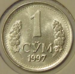 Moneda > 1so'm, 1997-1999 - Uzbekistán  - reverse
