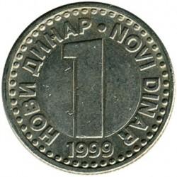 Münze > 1NeuerDinar, 1996-1999 - Jugoslawien  - reverse