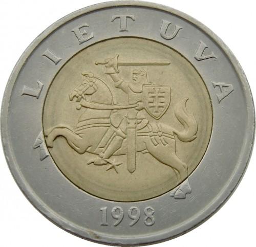 Монета 5 литовских литов 1998 года стоимость 5 groszy 1967 года цена