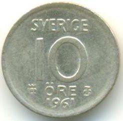 Moneda > 10öre, 1952-1962 - Suècia  - reverse