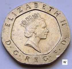 Coin > 20pence, 1987 - United Kingdom  - obverse