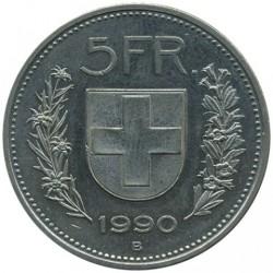 Moneta > 5franków, 1990 - Szwajcaria  - reverse