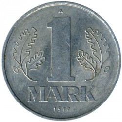 Coin > 1 mark, 1977 - Germany (GDR)  - obverse