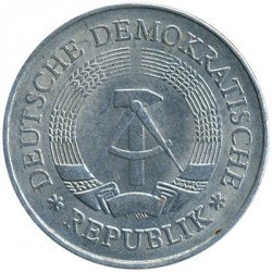 Coin > 1 mark, 1977 - Germany (GDR)  - reverse