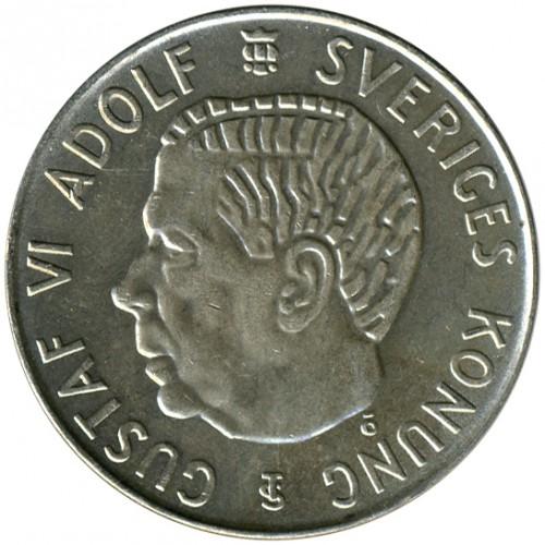 Coin 5 Kronor 1954 1971 Sweden Obverse