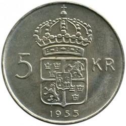 Pièce > 5kronor, 1954-1971 - Suède  - reverse