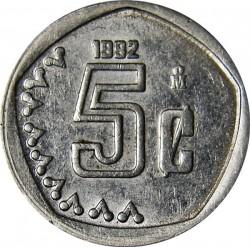 Moneta > 5sentavai, 1992-2002 - Meksika  - obverse