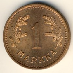 Münze > 1 Mark, 1940 - Finnland  (Copper /brown color/) - obverse