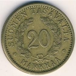 Münze > 20Mark, 1937 - Finnland  - reverse