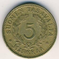 Münze > 5Mark, 1939 - Finnland  - reverse