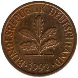 Münze > 2Pfennig, 1992 - Deutschland  - obverse