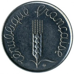 سکه > 5سنتیم, 1961-1964 - فرانسه  - reverse