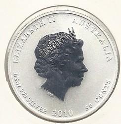 Moneda > 50centavos, 2010 - Australia  (Serie del Año Nuevo Chino: Año del Tigre) - obverse