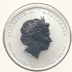 Moneda > 50centavos, 2010 - Australia  (Serie del Año Nuevo Chino: Año del Tigre) - reverse