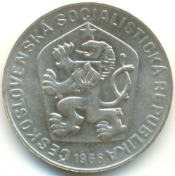 Coin > 10korun, 1966 - Czechoslovakia  (1100th Anniversary of Great Moravia) - obverse