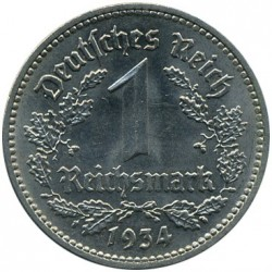 Pièce > 1reichsmark, 1933-1939 - Allemagne (Troisième Reich)  - obverse