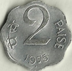 Monēta > 2paisi, 1972-1981 - Indija  - obverse
