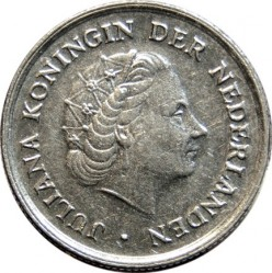 Coin > 10 cents, 1950-1980 - Netherlands  - reverse