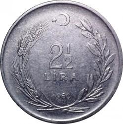 Moneta > 2½liros, 1960-1968 - Turkija  - reverse