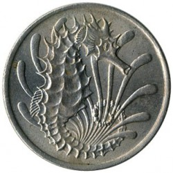 Moneta > 10centesimi, 1967-1984 - Singapore  - reverse