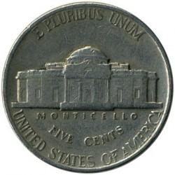 Moneda > 5centavos, 1938-1942 - Estados Unidos  (Jefferson Nickel) - reverse