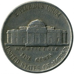 Монета > 5цента, 1938-1942 - САЩ  (Jefferson Nickel) - reverse