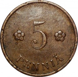 Münze > 5Penny, 1939 - Finnland  - obverse