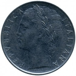 Coin > 100 lire, 1956 - Italy  - obverse