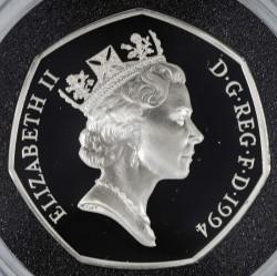 Moneta > 50pence, 1994 - Regno Unito  (50° anniversario - Sbarco in Normandia/D-Day/) - obverse