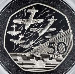 Moneta > 50pence, 1994 - Regno Unito  (50° anniversario - Sbarco in Normandia/D-Day/) - reverse