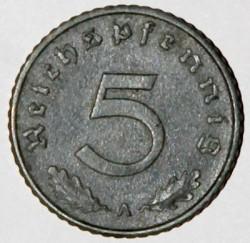 Moneta > 5reichspfennigów, 1940-1944 - Niemcy - Trzecia Rzesza  - reverse