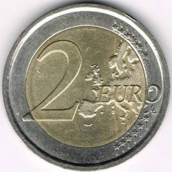 Coin > 2 euro, 2012 - Italy  (10 Years of Euro Cash) - obverse