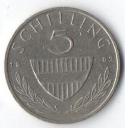 Moneda > 5chelines, 1982 - Austria  - reverse