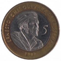 Moneta > 5pesos, 1999 - Kuba  - obverse