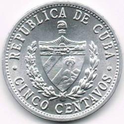 Moneta > 5centavos, 1963-2015 - Kuba  - obverse