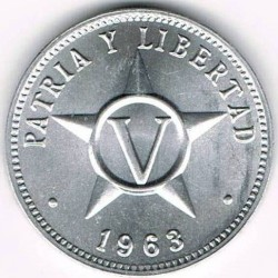 Moneta > 5centavos, 1963-2015 - Kuba  - reverse