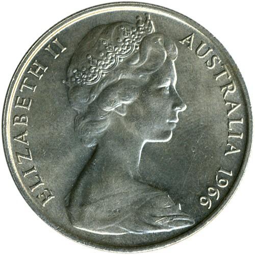 50 Cent 1966 Australien Münzen Wert Ucoinnet