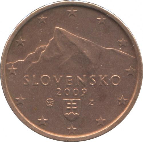 2 Eurocent 2009 2018 Slowakei Münzen Wert Ucoinnet