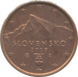 Münze > 2Cent, 2009-2018 - Slowakei   - obverse