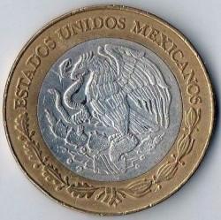 Coin > 20newpesos, 1993-1995 - Mexico  - obverse